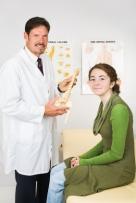 Happy Chiropractor and Patient