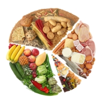 Food Pyramid round