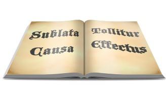 Sublata Causa Tollitur Effectus open book
